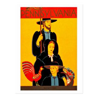 Vintage WPA Pennsylvania Farmers America Postcard