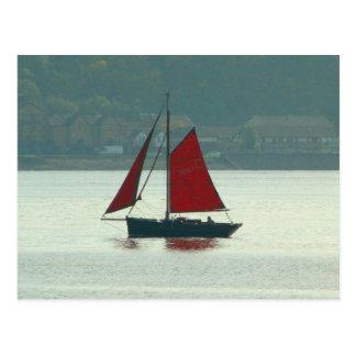 Vintage Yacht at Cardiff Bay Postcard
