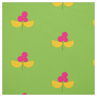Vintage yellow and pink flowers with apple green fabric