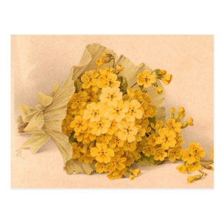 Vintage Yellow Flowers Vintage Postcard