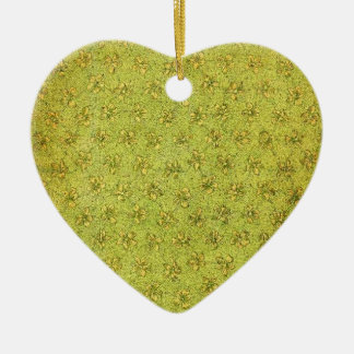 Vintage Yellow Green Floral Ornament