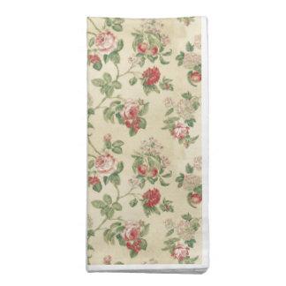 Vintage Yellow Rose Flower Garden Cloth Napkin