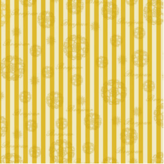 Vintage Yellow Stripes Gold Paris Damask Pattern Standing Photo Sculpture