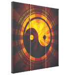 Vintage Yin Yang Symbol Stretched Canvas Print