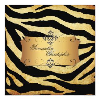 Vintage Zebra stripes, Wedding Invitations