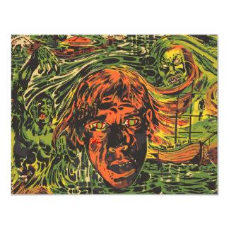 Vintage Zombies Graffiti Street Art Halloween Custom Invitation