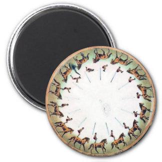 Vintage Zoopraxiscope - Horseback sommersault Magnet