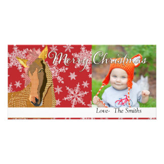 Vintage Zorse Christmas Red  Photo Card