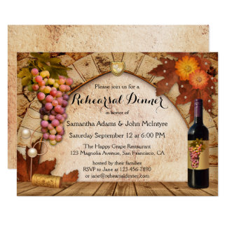 Vinyear Winery Wine Rehearsal Dinner Invitation