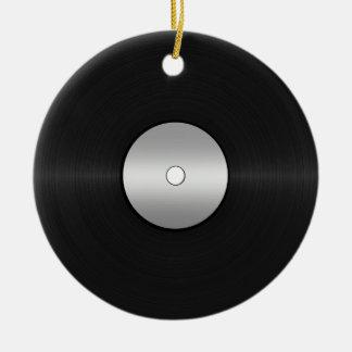 Vinyl-Look LP Record Round Ceramic Decoration