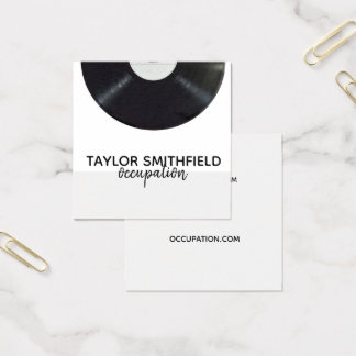 vinyl record music business card vintage modern