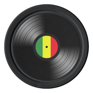 Vinyl reggae poker chips
