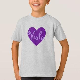 Viola in Purple T-Shirt