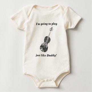 Viola Shaped Word Art Black Text Baby Bodysuit