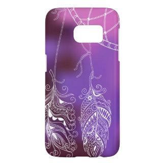 violet boho pattern with to dreamcatcher