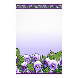 Violet Field Stationery