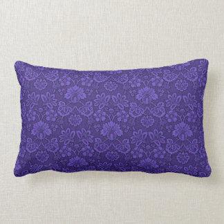 Violet floral decor lumbar pillow