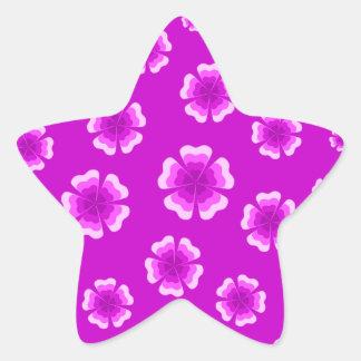 violet flowers star sticker