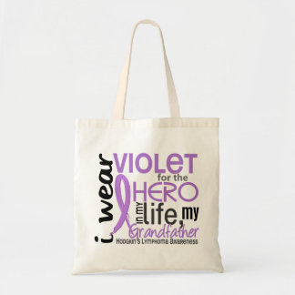 Violet For Hero 2 Grandfather Hodgkin's Lymphoma Canvas Bags