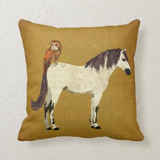 Violet Horse & Owl Pillow