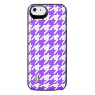 Violet Houndstooth 1 iPhone SE/5/5s Battery Case