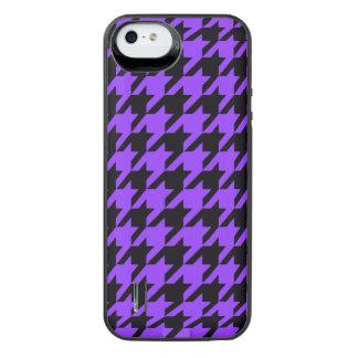 Violet Houndstooth 2 iPhone SE/5/5s Battery Case