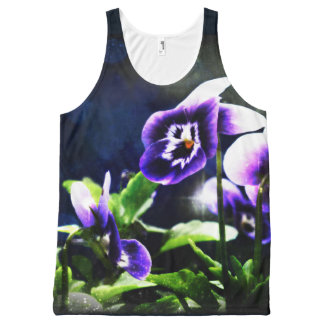 Violet Johnny Jump-Ups All Over Print Tank Top