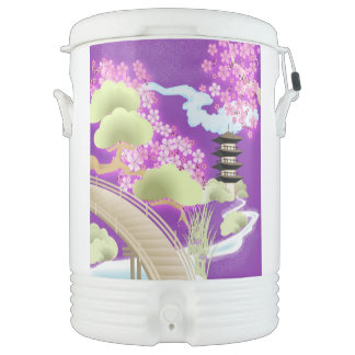 Violet Kimono Drinks Cooler