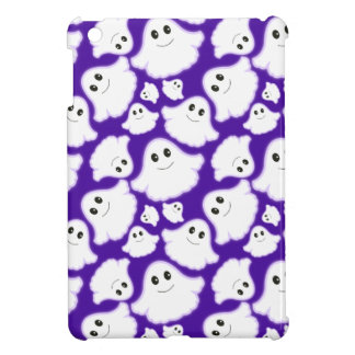 Violet Purple and White Halloween Ghost; Ghosts iPad Mini Cases
