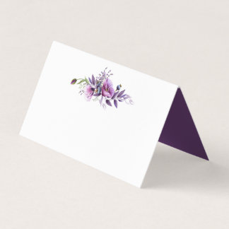 Violet Purple Lavender Wildflowers Place Cards