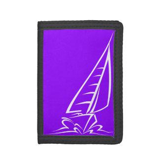 Violet Purple Sailing Trifold Wallets