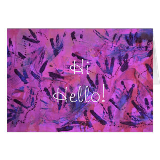 Violet Rainbow Hi Hello Greeting Card by Janz
