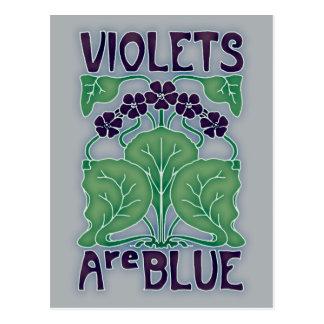 Violets Are Blue Postcard