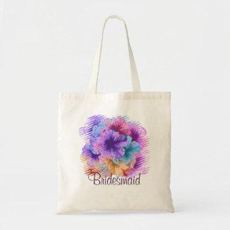 Violets Gone Wild -- Bridesmaid Tote Bag