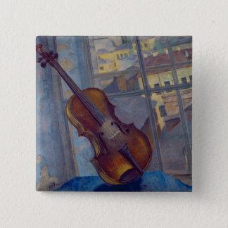 Violin, 1918 15 cm square badge