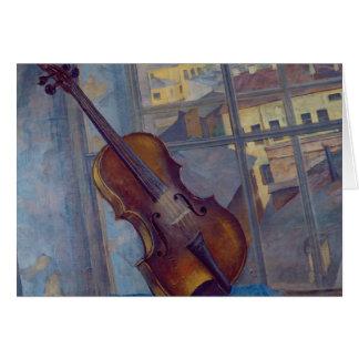 Violin, 1918 card