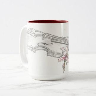 Violin and Lilly Coffee Mug