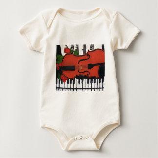 Violin Baby Wear Baby Bodysuit
