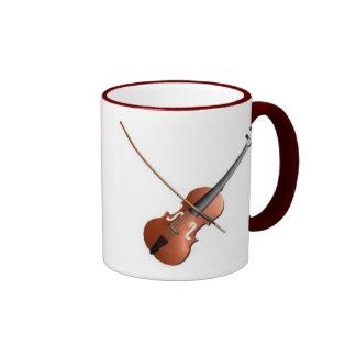 Violin Design Ringer Mug