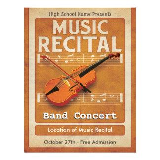 Violin Music Recital 21.5 Cm X 28 Cm Flyer