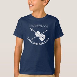 Violin orchestra personalised strings t-shirt