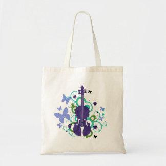 Violin Sky Butterfly Tote Bag