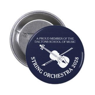 Violin strings orchestra personalised badge
