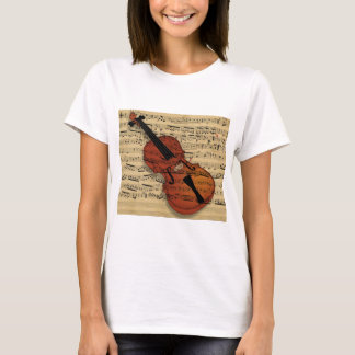 Violin Vintage Music T-Shirt