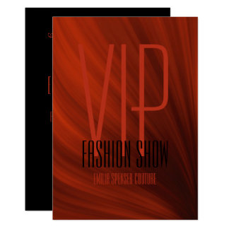 Vip Fashion Show Event Glamour Invitation Card