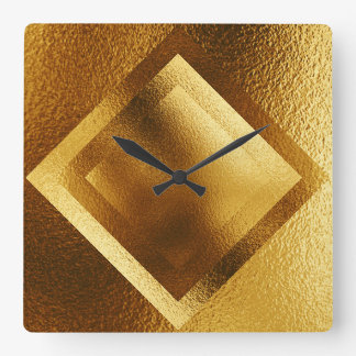 Vip Golden Metallic Shiny Geometric Clock
