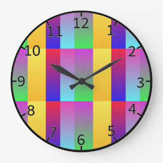Virbrant Multi Color Large Clock