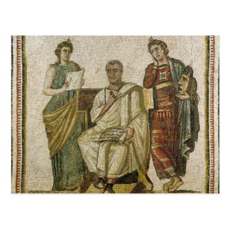 Virgil  and the Muses, from Sousse Postcard