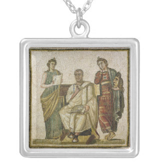 Virgil  and the Muses, from Sousse Silver Plated Necklace