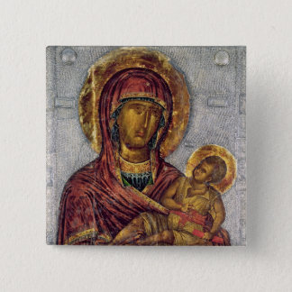 Virgin and Child 3 15 Cm Square Badge